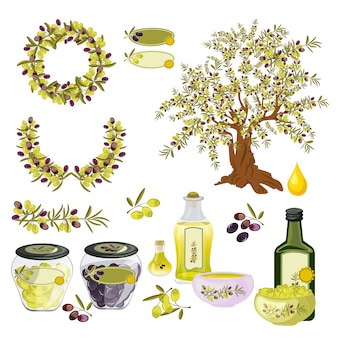 Azeitonas, óleo, natureza, alimento orgânico