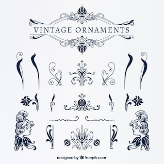 Azuis do vintage ornamentos