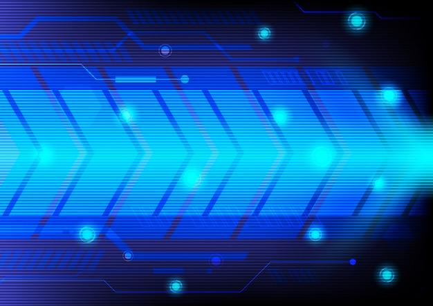 Azul abstrato do fundo da tecnologia.