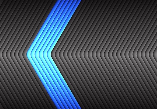 Azul abstrato no fundo cinzento do teste padrão da seta do metal.