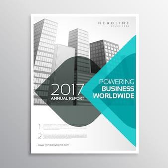 Azul, anual, relatório, negócio, folheto, curva, formas