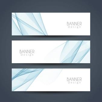 Azul bandeiras abstratas onduladas ajustadas