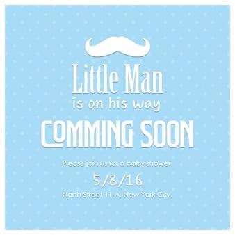 Azul bebê design do convite do chuveiro
