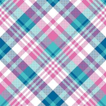 Azul bebê rosa cor pastel xadrez padrão sem emenda. .