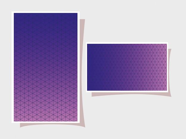 Azul com gradiente roxo e padrão