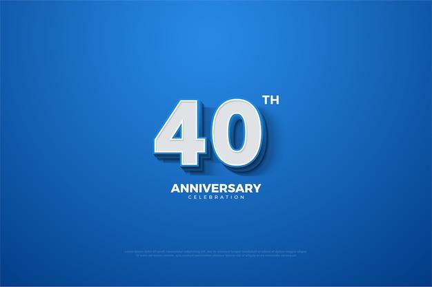 Azul e branco para a celebração do 40º aniversário