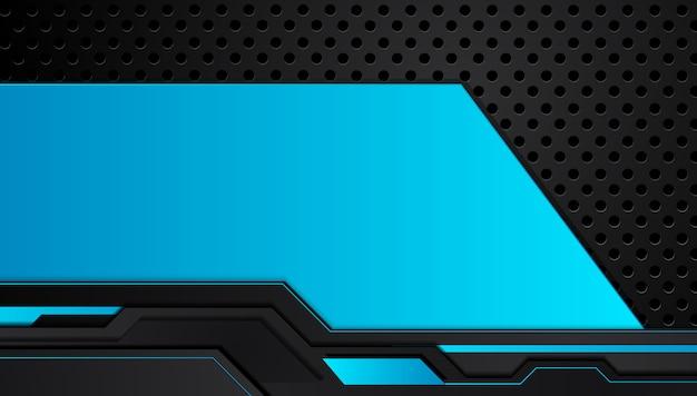 Azul e preto abstrato quadro metálico layout design tecnologia inovação conceito fundo