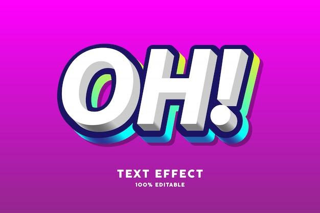 Azul escuro e colorido gradiente contorno no efeito de texto em branco