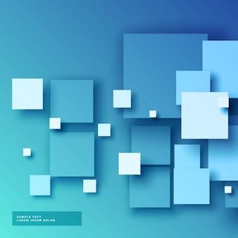 Azul esquadra o fundo 3d