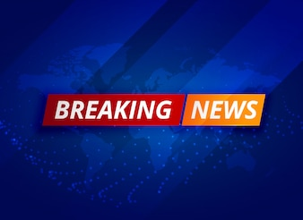 Azul fundo de tv de notícias de última hora