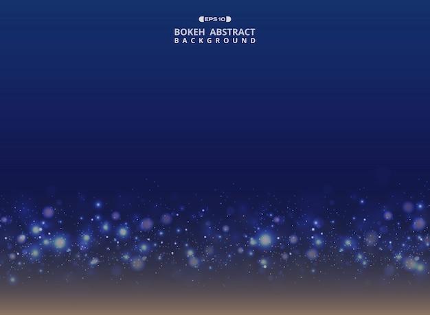 Azul gradiente de arte com brilho brilha fundo de bokeh