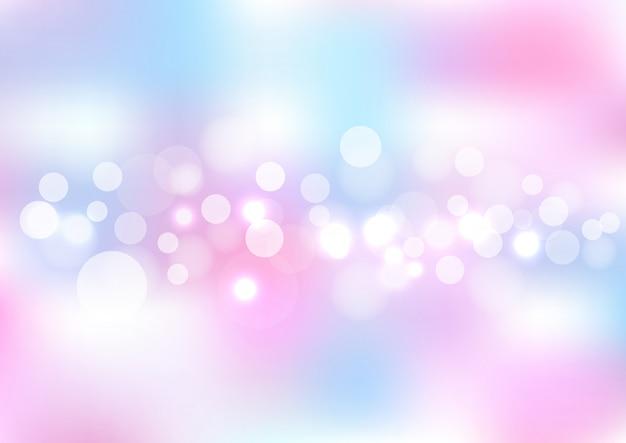 Azul rosa abstrato luzes desfocadas bokeh de fundo.