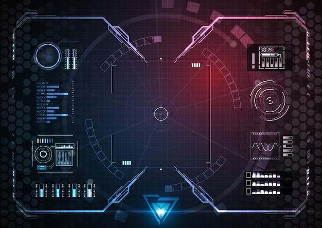 Azul rosa vários dados da tecnologia da opção de interface