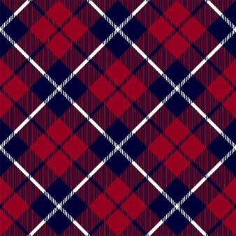 Azul vermelho verificar padrão sem emenda de textura xadrez