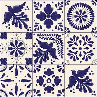 Azulejos de estilo talavera tradicional mexicano
