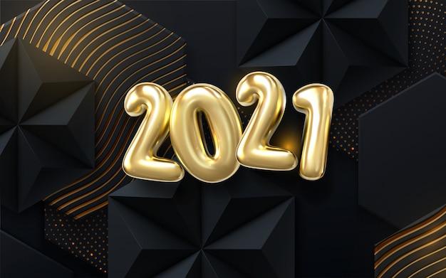 Azulejos geométricos pretos texturizados com padrões brilhantes dourados.