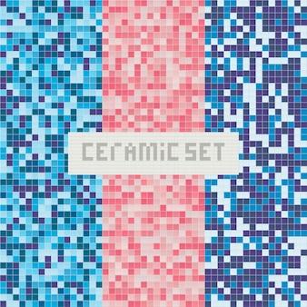 Azulejos para piscina. teste padrão abstrato