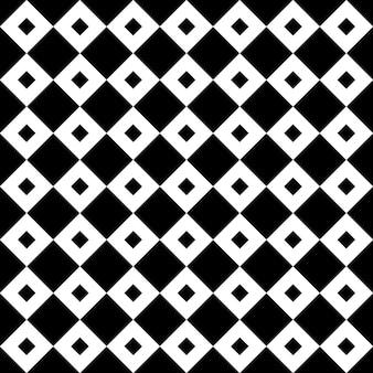 Azulejos pretos e brancos vintage padrão ou plano de fundo diagonais quadrados chequerwise