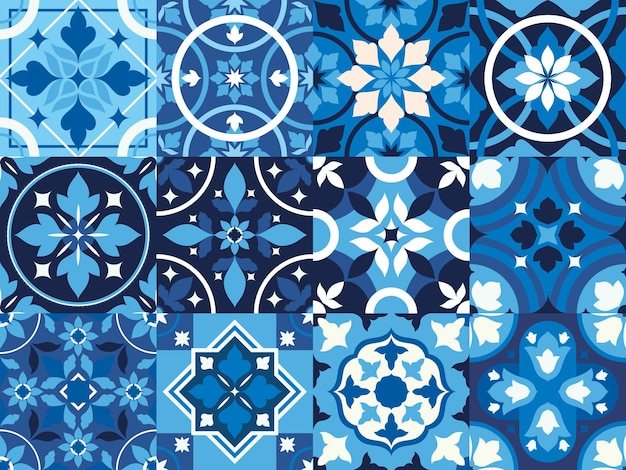 Azulejos vintage azuis