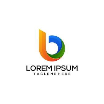 B logo colorfull