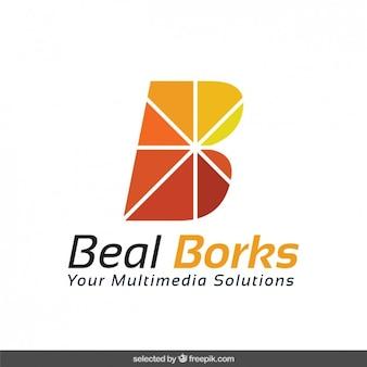 B logotipo abstrato