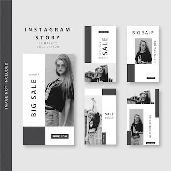 B & w história do instagram
