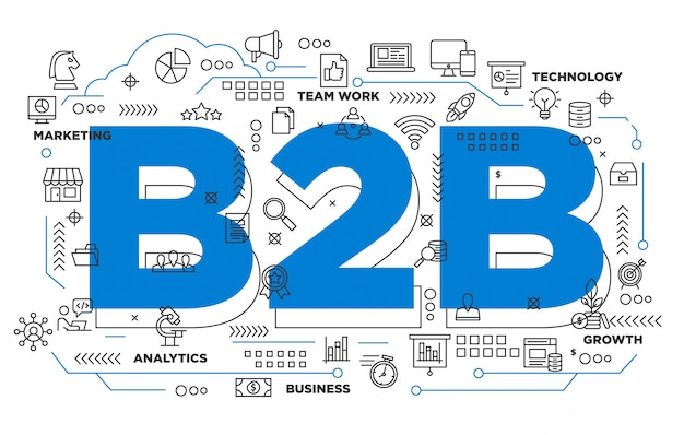B2b negócios para negócios fundo icônico