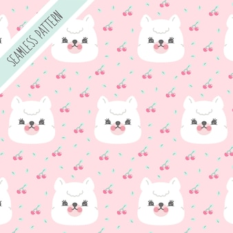 Baby bllama background premium
