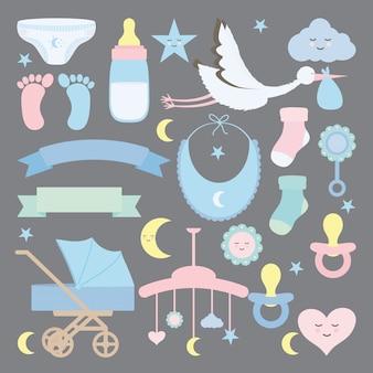Baby shower set acessórios