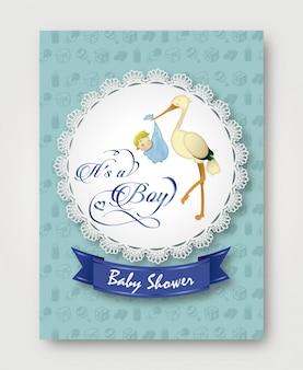 Babyshower cartão de boas-vindas para o menino