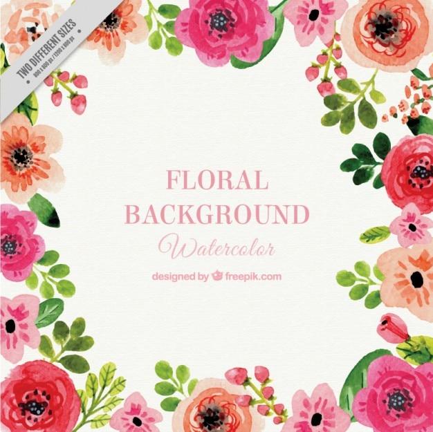 Bacground floral da aguarela