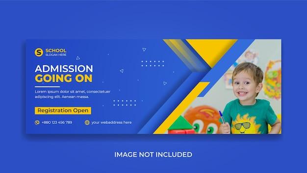 Back to school education web banner design da capa do facebook