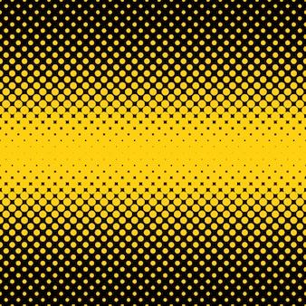 Backgorund preto e amarelo de pontos de meio-tom