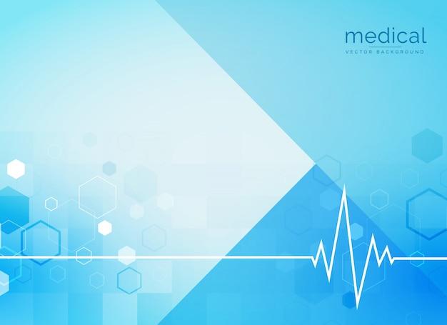 Backgroind médico abstrato com linha do batimento cardíaco