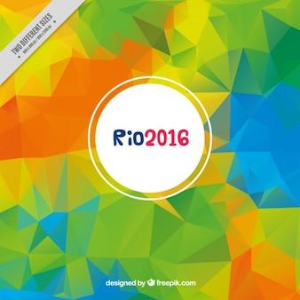 Backgroud poligonal colorido de jogos olímpicos