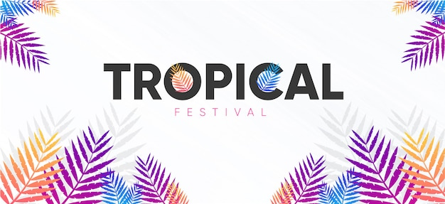 Backgroun colourful completo tropical