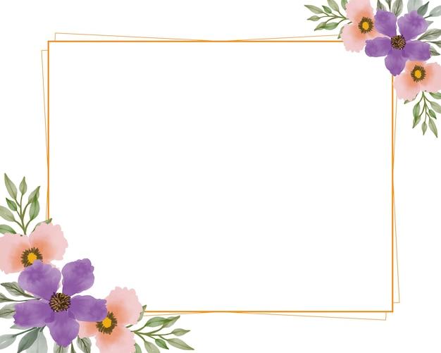 Background branco com buquê de flores roxas e laranjas