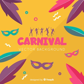Background colorido de carnaval