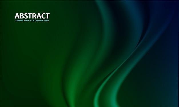 Background fluido verde abstrato