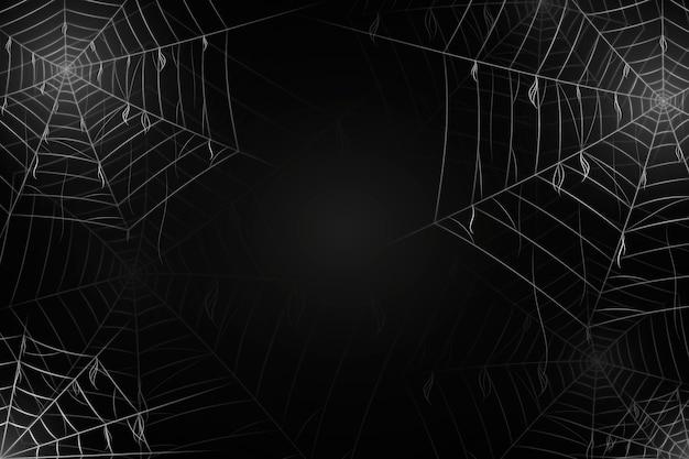 Background realista de teia de aranha no dia das bruxas