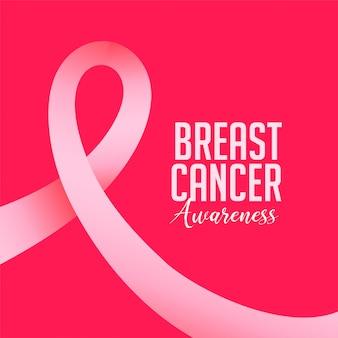 Backgroundg de conscientização de câncer de mama com fita rosa