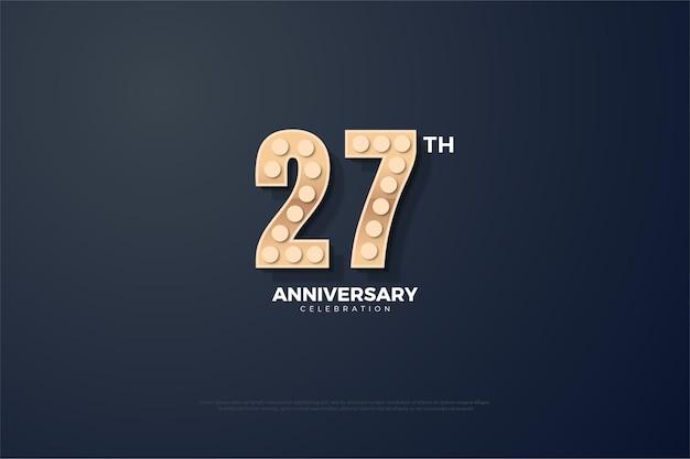 Backround do 27º aniversário com números texturizados.