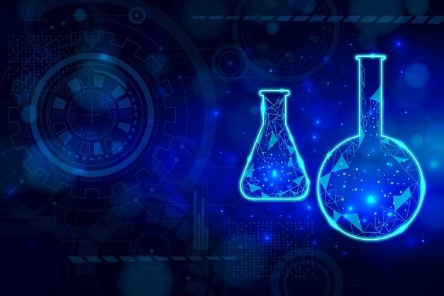 Backround futurista do laboratório de ciências