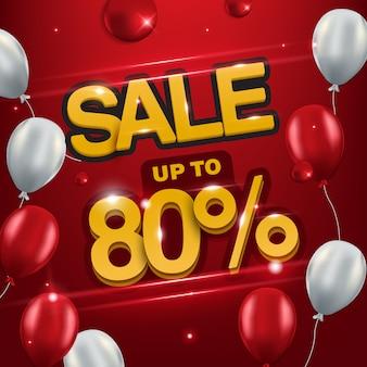 Backround venda até 80%, fundo de venda para promoção.