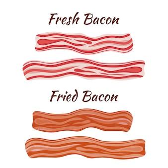 Bacon fresco e frito