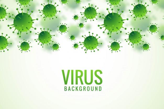 Bactérias ou vírus infecção gripe fundo