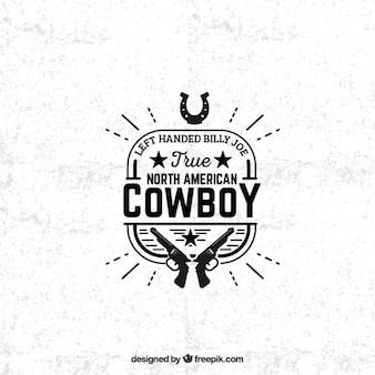 Badge cowboy americano