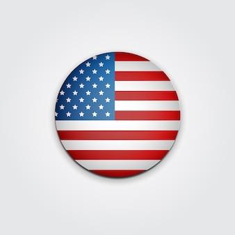 Badge vote. eleição presidencial dos eua