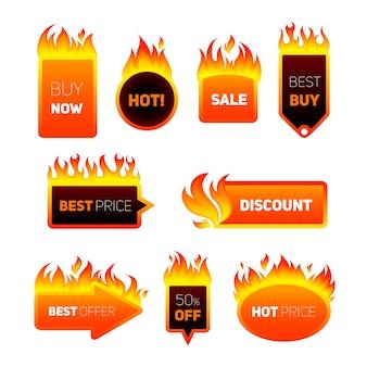 Badges de preços quentes