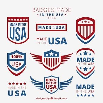 Badges feitos nos eua